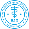 Osteopathie Qualit�tssiegel - BAO zertifiziert