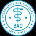 Osteopathie Qualitätssiegel - BAO zertifiziert